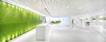 Small Picture Modern Green Office Design with The Refreshing Look Green