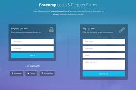 Registration Page Html Template Bootstrap Login And Register Forms In One Page 3 Free Templates
