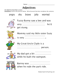 Adjectives Worksheet | Have Fun Teaching