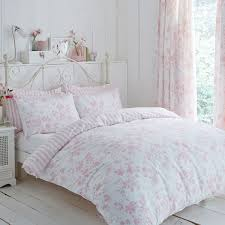 charlotte thomas amelie fl toile piped duvet cover set pink double linens limited