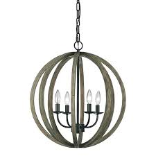 metal and wood orb chandelier 4 light orb chandelier wood antique forged iron