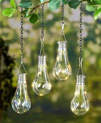 set of 2 led hanging solar light patio yard porch garden outdoor lighting decor