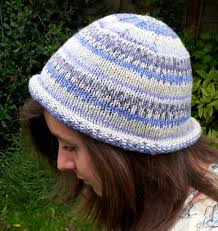 Free Knitted Hat Patterns On Circular Needles Simple Knitted Rolled Brim Beanie Hat Free Beginners Pattern