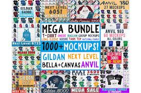 1000 Huge Bundle Shirt Mockup Bella Canvas Gildan Mockups