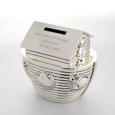 silver personalised noahs ark money box