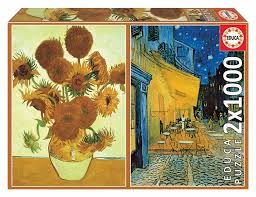 This formed a network of trust in an otherwise shifting coffee producing region, enabling us to support this mill with the utmost confidence. Educa Puzzle 2x1000 Parts Sunflowers Evening Coffee Terrace V Van Gogh 1001puzzle Com