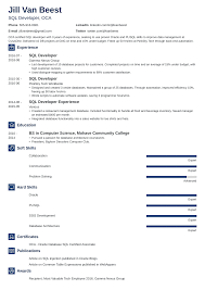 Sql Skills Resumes Sql Developer Resume Sample And Complete Guide 20 Examples