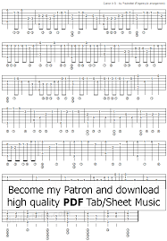 Printable Guitar Chords Chart Pdf Canon In D By Pachelbel In 2019 Fingerstyle Guitar