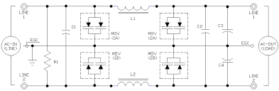 tvss ac filter schematics ecn electrical forums for circuits using a grounded circuit conductor such as 120 vac and 277 vac