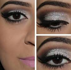 how to wear silver eye makeup