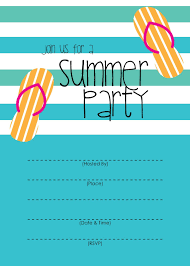 Summer Party Invitation Free Printable Pool Party