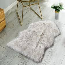 nordmiex non skid backing faux fur sheepskin rug deluxe soft faux sheepskin chair cover seat cushion pad plush fur area rugs for bedroom sofa floor