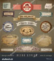 Useful Design Vintage Retro Design Elements Useful Design Stock Vector