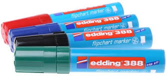 Flip Chart Markers Edding Broad Extra Broad Medium Tip Assorted Marker Pen