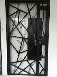 gate factory in singapore ing hdb mild steel gate at factory customize with gateman and epic digital door lock