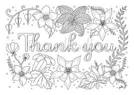 Small Picture adult coloring page Thank you printable download