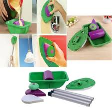 review 9pcs set multifunction paint roller tray sponge pads handles s kits home