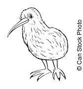 キーウィ鳥クリップアートとストックイラスト733 キーウィ鳥eps