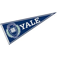 College Flags Banners Co Yale Pennant Full Size Felt