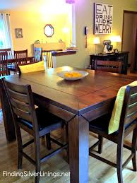 chic design tall square dining table 24