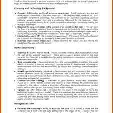 executive business plan template business plan examples resume sections example of pdf download