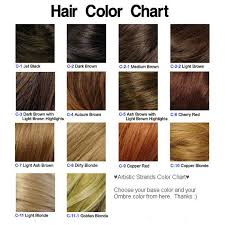 Medium Brown Hair Colour Chart Red Carpet Black Carmel Copper To Blonde Ombre By