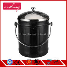 1 0 gallon kitchen stainless steel compost bin compost pail with lid and carbon filer