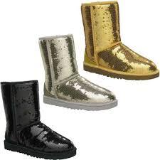 Sequin Winter Shoes