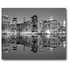 black white cityscape 16 x 20 canvas wall art on canvas black and white wall art with black white cityscape 16 x 20 canvas wall art dorm life sale