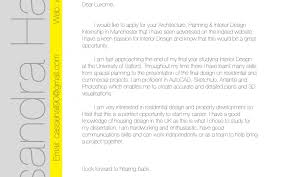 Interior Design Cover Letter Company Introduction Sample
