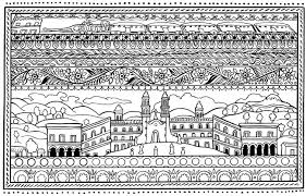 Small Picture Architecture and Living Coloring pages for adults coloring