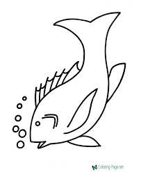 Free printable fish coloring page for kids to print and color. Fish Coloring Pages