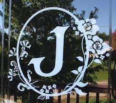 cameo monogram wall decals vinyl wall
