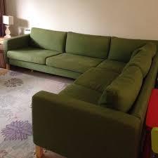 ikea karlstad green fabric 3 seater 2