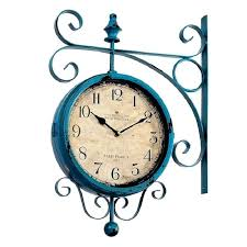 double sided wall clock watch vintage double sided wall clock wrought iron wall clock i clocks double sided wall clock