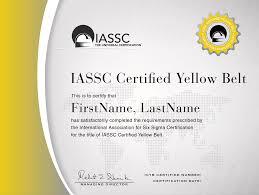 Icyb Iassc Certified Lean Six Sigma Yellow Belt Best