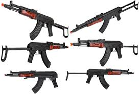 lct mg ms nv full metal airsoft ak 47 aeg with real wood furniture and folding stock 3