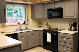 Painting Kitchen Cabinets Grey Beautifying Kitchen With Chalk Paint Kitchen Cabinets Gallery
