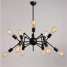 <b>Nordic Industrial vintage</b> Spider <b>Design</b> E27 Edison Chandelier Cafe