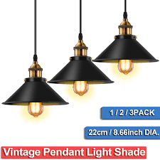 Industrial Light Shade Details About Pendant Lamp Light Shade Vintage Industrial Ceiling Lighting Led Loft Chandelier