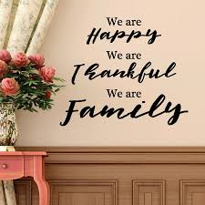 Thankful For Family Quotes Impressive Happy Thankful Family Wall Quotes™ Decal WallQuotes