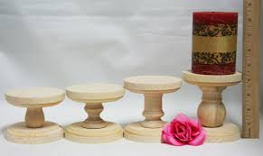 smaller unfinished wood pillar candlestick holders diy wedding accents candlestick holders wedding table