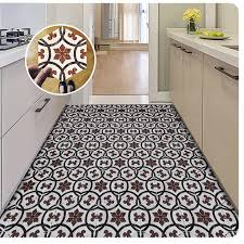 nordic style retro tile floor stickers pvc bathroom kitchen waterproof wall stickers for home decor ground art diy mural decalshaif wall decals