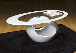 designer oval coffee table (white) amazoncouk kitchen  home