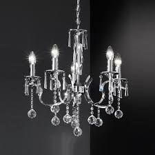 image of luxury chrome crystal chandelier