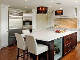 Hickory Wood Chestnut Windham Door Large Kitchen Islands With Seating And  Storage Backsplash Mirror Tile Composite Sink Faucet Lighting Flooring  Quartz ...