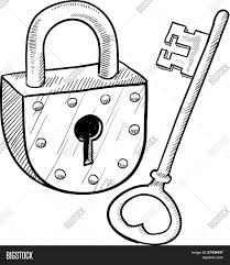 lock and key drawing. Modren And 1403x1620 Antique Lock Key Sketch Vector Amp Photo Bigstock Intended And Drawing W