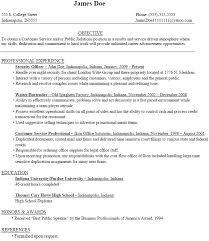 Post Graduate Resume Sample