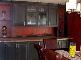 Kitchen Cabinets Painted Red Dark Red Painted Kitchen Cabinets Quicuacom