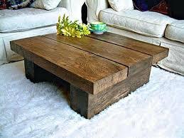all wood coffee table coffee table solid dark oak pine wood coffee table chunky rustic plank
